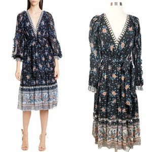 NWT✨ULLA JOHNSON Romilly Silk Jacquard Dre…